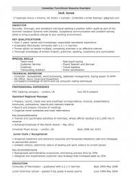 Example Resume Profile Functional Resume For Canada Joblers How To Write Cv Profile