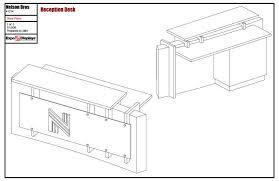 diy reception desk construction drawings pdf download free desk plans design online