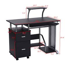 costway computer desk pc laptop table workstation home office