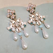 antoinette earrings 22 vintage jewelry vintage earrings faux jade