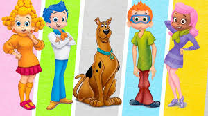 bubble guppies transforms into scooby doo characters fun