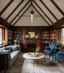 tudor home interior a tudor home library that s stately not stuffy the look wsj