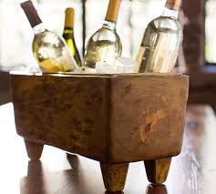 Barn Board Wine Rack Blonde Wood Wine Trough Pottery Barn