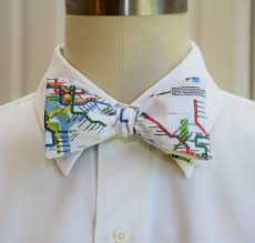 Dc Subway Map Men U0027s Bow Tie In Washington D C Metro Map Design Self Tie