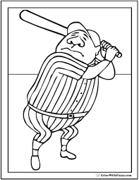 baseball coloring pages customize and print pdf