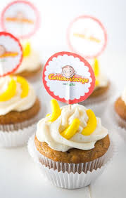 curious george cupcakes banana cupcakes inspired by curious george recipe curious