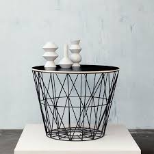 Wire Side Table Wire Baskets Side Tables By Ferm Living Basket The Modern Shop