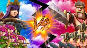 clash of clans archer queen clash of clans army vs army