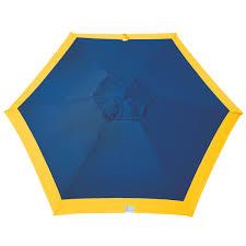rio 7 ft market style vented beach patio umbrella navy yellow