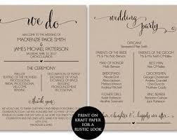 wedding phlet template stunning wedding program templates photos styles ideas