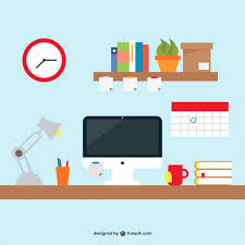 Office Desk Icon Office Desk Simple Design Free Vector Office Desks Icons And