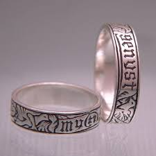 german wedding ring personalized ring laurel elliott european style laurel