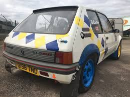 peugeot 205 rally peugeot 205 gti fully prepared rally car for sale uk