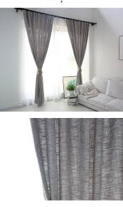 Custom Bedroom Curtains White New Japan Solid Color Burlap Blackout Curtains For Living Room