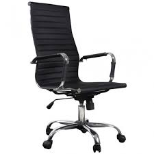 fauteuil de bureau haut fauteuil de bureau siège chaise noir et chromé dossier haut