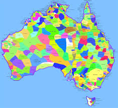 states australia map detailed map of australia nations project with states and