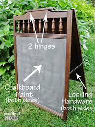 repurposed baby crib projects junkin u0027 fun chalkboard easel