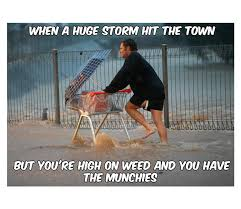 Storm Meme - high on weed during storm got the munchies weed memes