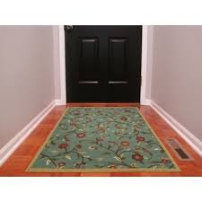 Area Rugs With Rubber Backing Ottomanson Ottohome Collection Floral Garden Design Modern