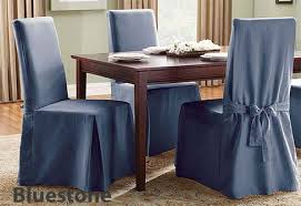 Cotton Dining Chair Covers Long Dining Chair Cover In Sturdy Cotton Duck