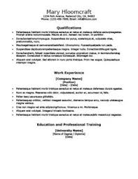 Training Resume Format Ats Friendly Resume Templates Format 27 Samples