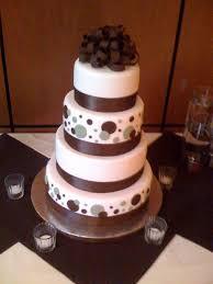 brown cake brown and polka dot and bow wedding cake a wedding cake