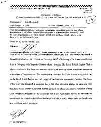 bloomsbury police officer and witness statements