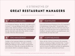 4 strengths of great restaurant managers hospitality