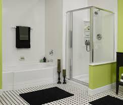 Green Bathrooms Shower Amazing Green Bathroom With Corner Shower Enclosure