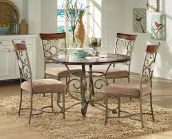 Silver Dining Room Set by Steve Silver Thompson 5 Piece Counter Height Metal Base Table And