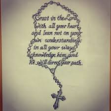 bible scripture rosary sketch by ranz
