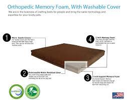 Foam Dog Bed Amazon Com Pet Support Systems Washable Orthopedic Memory Foam