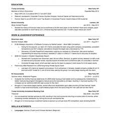 Sample Resume Investment Banking by 28 Banker Resume Template Banker Resume Free Premier Banker
