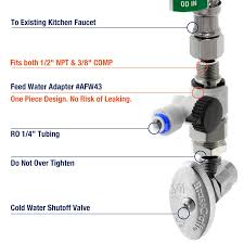 Kitchen Faucet Water Filters Ispring Rcc1up Ak 7 Stage 100 Gpd Reverse Osmosis Water