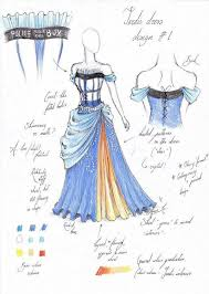 tardis ball gown sketch is now a real dress pic