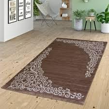 Esszimmer Teppich Teppich Wohnzimmer Glitzer Garn Floral Gemustert Design In Braun