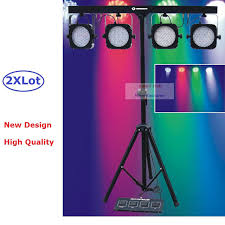 stage lighting tripod stands 2pcs lot flat par kits high power 80w led stage light with light