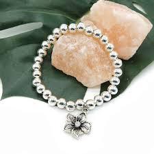flower beaded bracelet images Silver flower charm beaded bracelet project pinup jpg