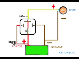 horn relay simple wiring youtube