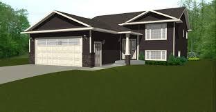 split level house plans detached garage