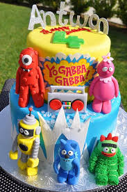 yo gabba gabba birthday cake3d cards 244 best childrens cakes images on anniversary cakes