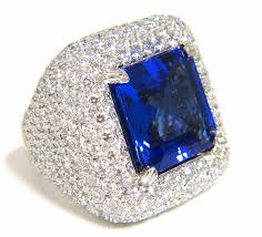 jewelry diamonds rings images Vintage cocktail rings 4 25ct diamond 4 50ct sapphire gold JPG