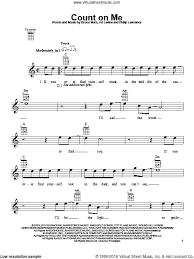 Count On Me Bruno Mars Piano Pdf Mars Count On Me Sheet For Ukulele