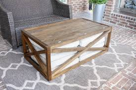 unique outdoor coffee table with steel rectangular coffee table