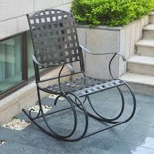 patio rocking chairs metal amazon com international caravan santa fe wrought iron outdoor