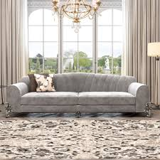 Sofa Kings Road by Classic Luxury Nubuck Leather Grey Sofa Juliettes Interiors