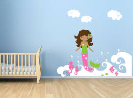 mermaid wall decal childrens vinyl art sticker ocean mermaid wall decal childrens vinyl art sticker ocean set