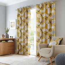Sunflower Yellow Curtains by Elements Emmott Ochre Eyelet Curtains Dunelm Dinner Room