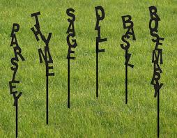 garden markers set of 8 herb markers garden marker vegetable garden stake