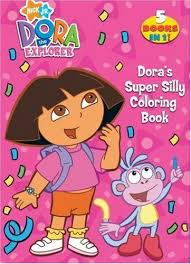 jumbo coloring book dora u0027s super silly coloring book golden